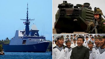 China missing from world's biggest naval exercise