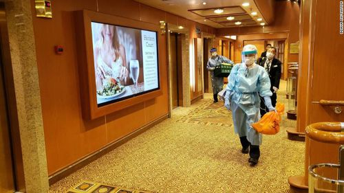 Japan screens cruise ship for coronavirus