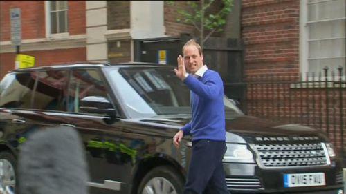 Prince William drove to Kensington Palace. (9NEWS)