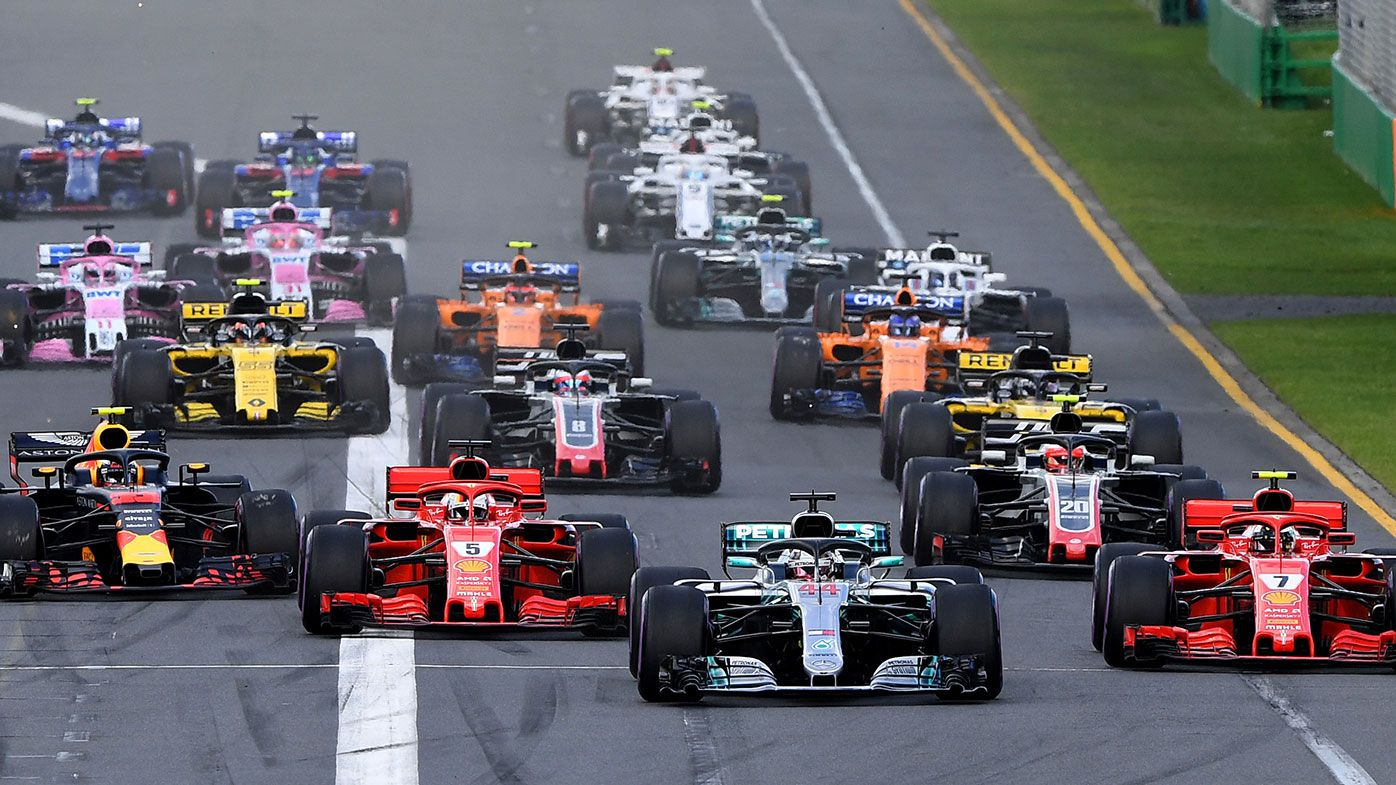 The start of the 2018 Australian Formula One Grand Prix.