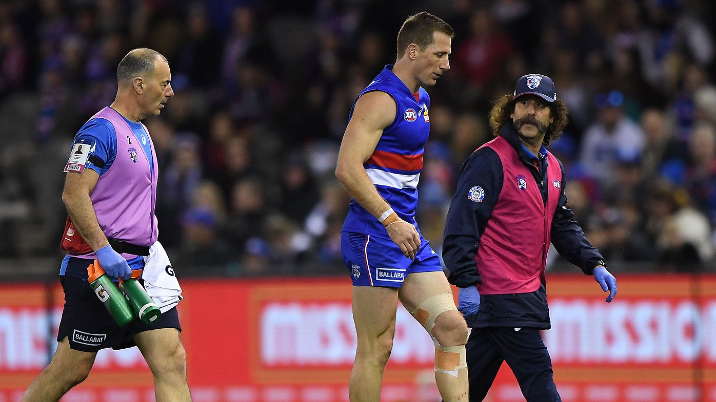 Dale Morris' AFL future in limbo after re-injuring knee in Western Bulldogs win over Fremantle