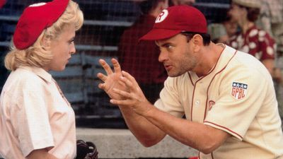 <p><em>A League of Their Own </em>(1992) – This comedy-drama saw Hanks cast as Jimmy Duga, a fictional former baseball star turned coach of the real All-American Girls Professional Baseball League during World War Two. He starred alongside international pop idol Madonna.</p> <p>(Parkway Productions/Columbia Pictures)</p>