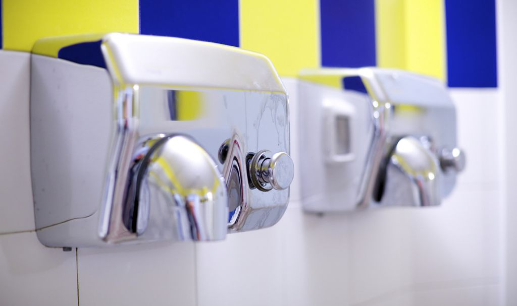 Bathroom Hand Dryers Spread Times More Germs Than Paper Towels - Bathroom hand dryer germs