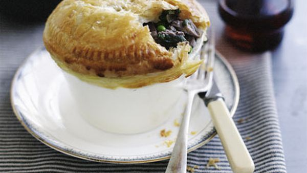 Duck and pea pie