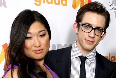 "<B>Where they met:</B> <I>Glee</I>. She plays Tina Cohen-Chang (ingloriously dubbed ""the Asian"" by cheerleading coach Sue Sylvester), and he plays the wheelchair-bound Artie Abrams. The two characters quietly hooked up in season one.<br/><br/><B>Did love blossom or bomb?</B> Blossomed, maybe? Bombed, perhaps? Though the twosome was spotted canoodling on a Monaco beach in June '10, they never officially confirmed the hook-up."
