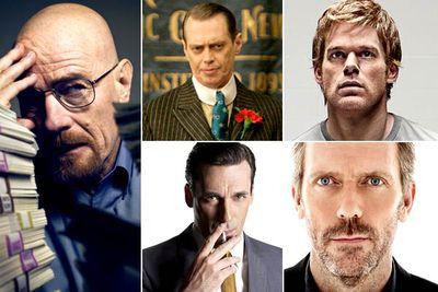 Bryan Cranston &mdash; <I>Breaking Bad</I><br/>Steve Buscemi &mdash; <I>Boardwalk Empire</I><br/>Michael C. Hall &mdash; <I>Dexter</I><br/>Jon Hamm &mdash; <I>Mad Men</I><br/>Hugh Laurie &mdash; <I>House</I><br/><br/><b>TVFIX prediction:</b> While you can never say that anyone will <i>definitely</i> win an award... Bryan Cranston will definitely win this award.