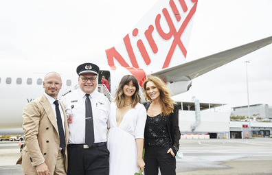 Virgin Australia Wedding in the Sky