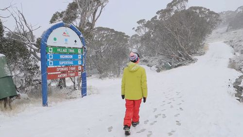Snowmaking is set to start at Thredbo in the next two weeks. Picture: Thredbo