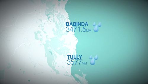 Tully and Babinda exchange annual bragging rights for the wettest town. (9NEWS)