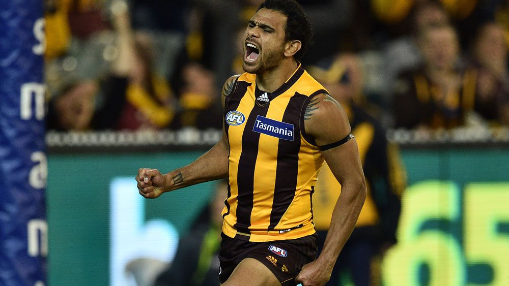 Cyril Rioli kicked a crucial late goal. (AAP)