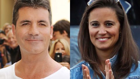 Pippa Middleton and Simon Cowell