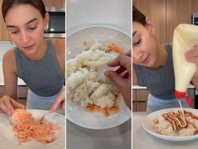 Emily Mariko makes her TikTok-famous salmon and rice bowl