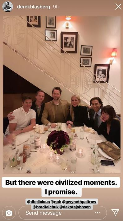 Neil Patrick Harris, David Burtka, Gwyneth Paltrow, Dakota Johnson and Derek Blasberg