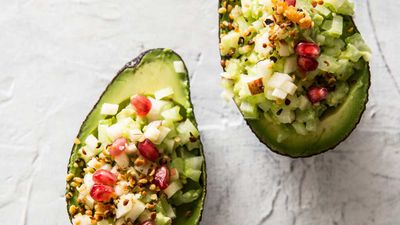 Crunchy apple avocados