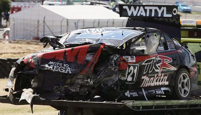 Paul Radisich in a crash at the 2006 Bathurst 1000
