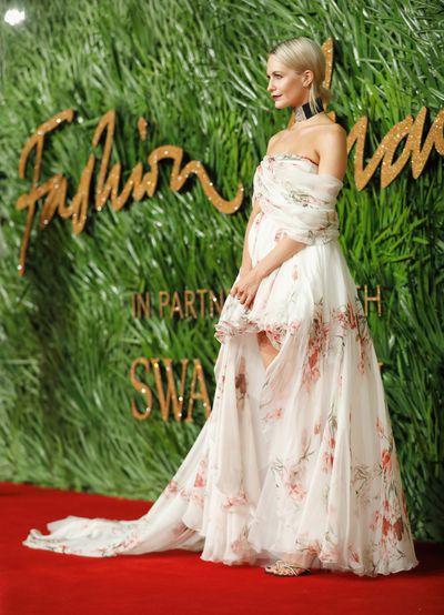 Poppy Delevingne in Giambattista Valli at the Fashion Awards, London.