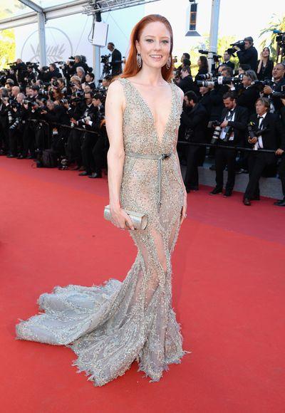 German model Barbara Meier in Ziad Nakad at the 2017 Cannes Film Festival