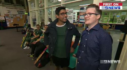 Adam and James had an emotional reunion when they met again after Adam suffered a heart attack.