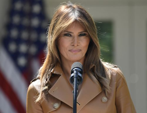 Melania Trump has been strangely missing from public for about a month. Picture: AAP
