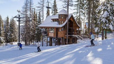 Inside the world's first luxury ski-in/ski-out treehouse