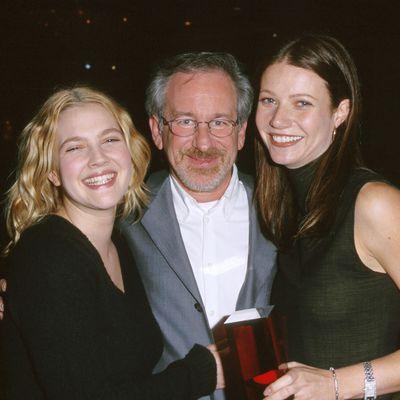 Drew Barrymore, Gwyneth Paltrow and godfather Steven Spielberg