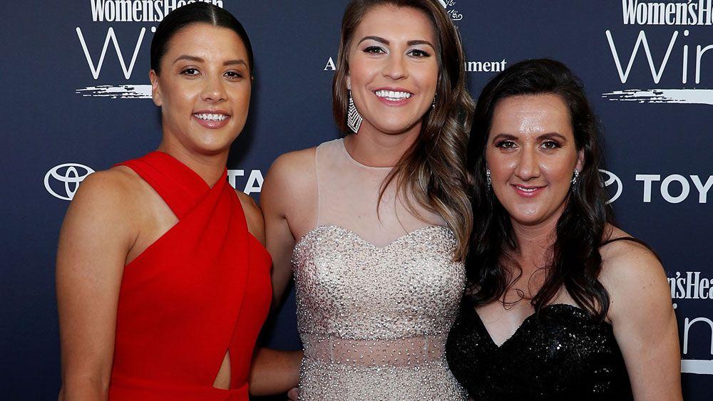 Samantha Kerr grateful to Matildas teammates after winning at Women in Sport awards