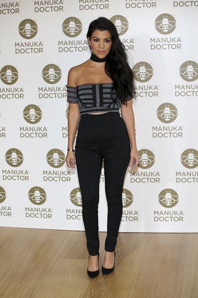 Kourtney Kardashian at an event for Manuka Doctor in London, June, 2016
