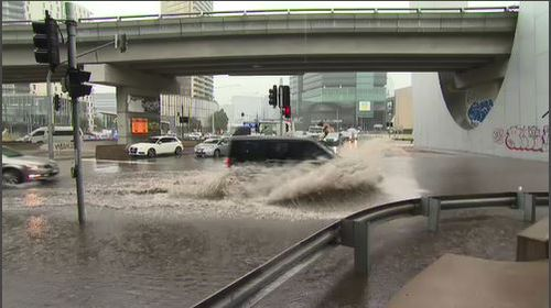Floodwater has wreaked havoc in Melbourne this morning.