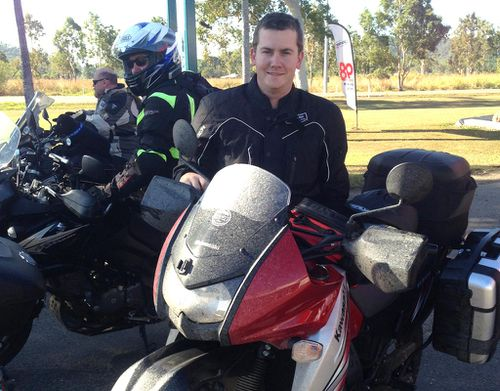 Strength on the road: The young Australian riding 14500km in his mum's memory