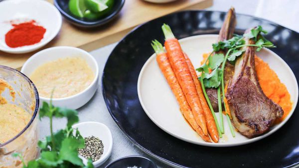 The Samadi's Carrots with Lamb Cutlets