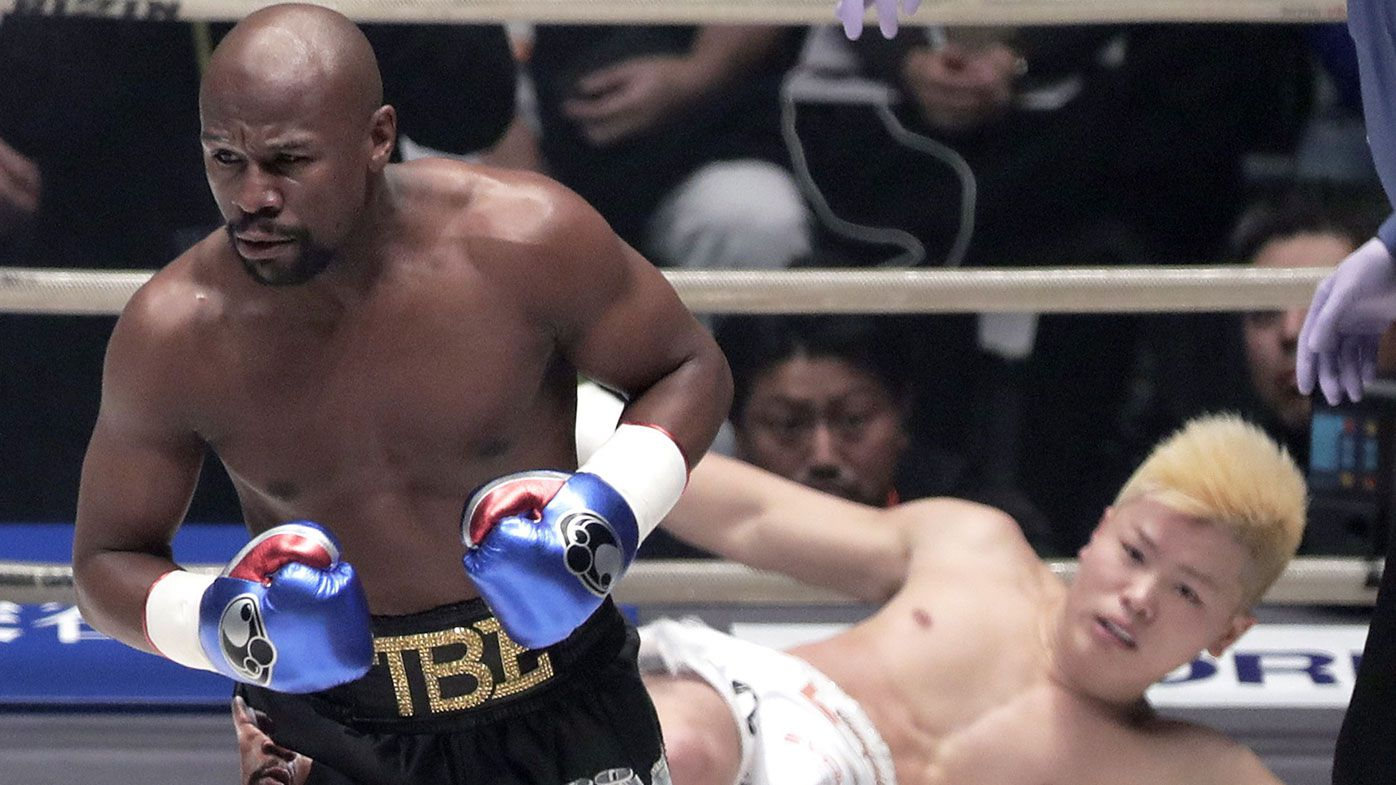 Floyd Mayweather destroys MMA star Tenshin Nasukawa in Rizin boxing exhibition
