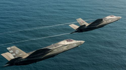 The F-35 warplane has connectivity to other weapons systems but this can be a potential 'back door' for hackers.