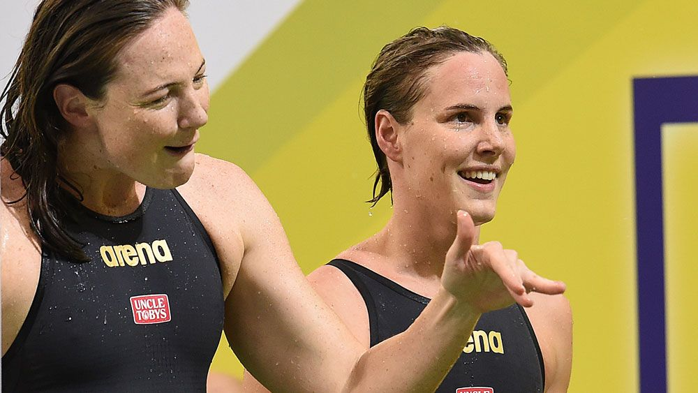Cate (left) and Bronte Campbell. (AAP)