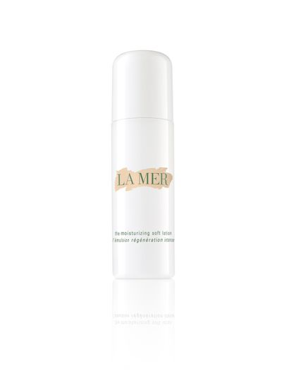 "<a href=""http://www.cremedelamer.com.au/product/5834/12482/MOISTURISERS/The-Moisturizing-Lotion/Ultralight-Lotion"" target=""_blank"">La Mer Moisturizing Soft Lotion, $365.</a>"