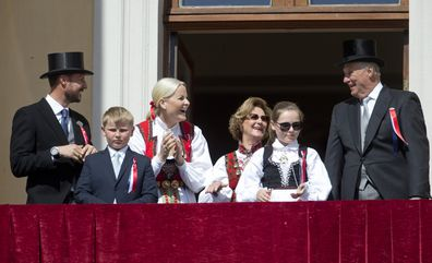 The royal family in Oslo to celebrate Norway's National Day, on May 17, 2016 in Oslo, Norway.