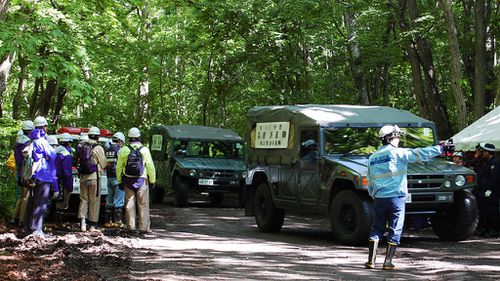 Search parties are combing the bear-inhabited forest. (AFP)