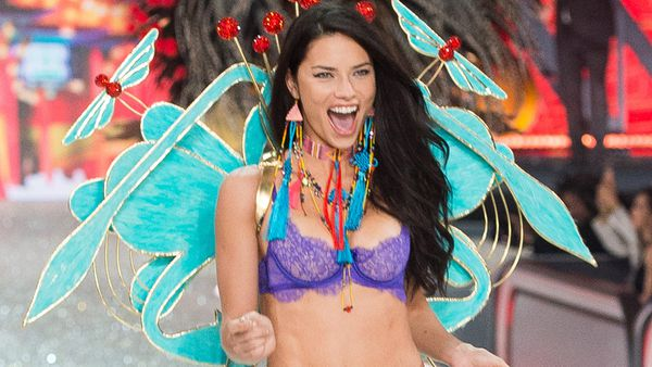 Adriana Lima in the Victoria's Secret show. Image: Getty