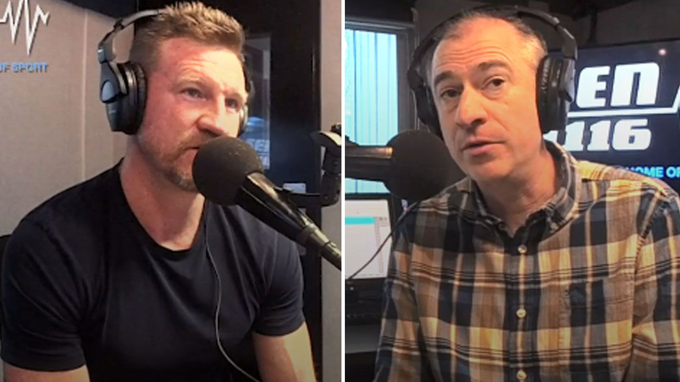 Collingwood coach Nathan Buckley in terse interview with SEN broadcaster Gerard Whateley over Magpies culture