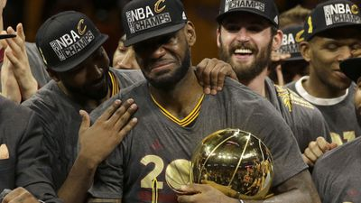 Cleveland Cavaliers made history with their first ever NBA championship win, and also had the distinction of being the first team to recover from a 3–1 deficit to the Golden State Warriors to win the finals. (AAP)