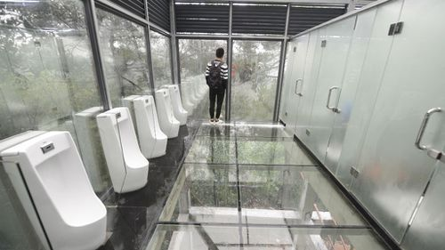 See-through loos unveiled in China