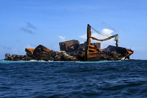 The MV X-Press Pearl sank after burning for almost two weeks, just outside Colombo's harbour on June 2, 2021.