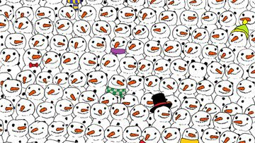 Can you find the panda? Festive puzzle goes viral and leaves Facebook users divided