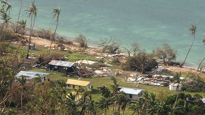 <p><strong>Harrowing images of destruction have emerged from the island nation of Fiji after the most powerful cyclone in the nation's history flattened homes, crippled infrastructure and claimed 17 lives when it tore through the Pacific island chain.  </strong></p><p><br>Tropical Cyclone Winston made landfall in Fiji on February 20. (AP)</p>