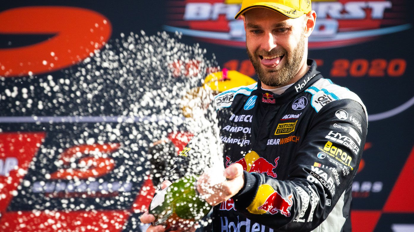 Shane van Gisbergen claims the 2020 Bathurst 1000. (Getty)