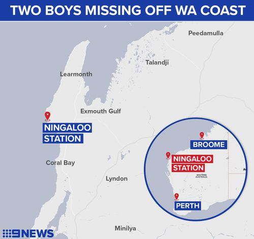 The boys were eventually found about 70km from where they disappeared. (9NEWS)