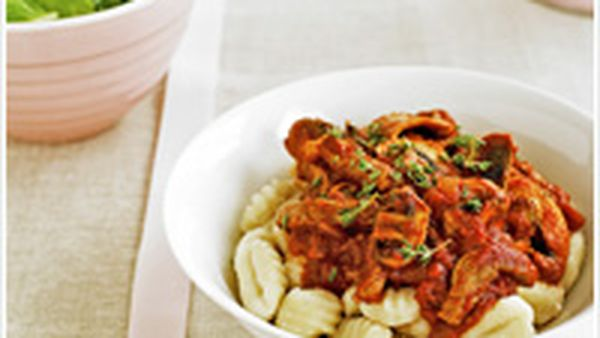 Veal and mushroom gnocchi