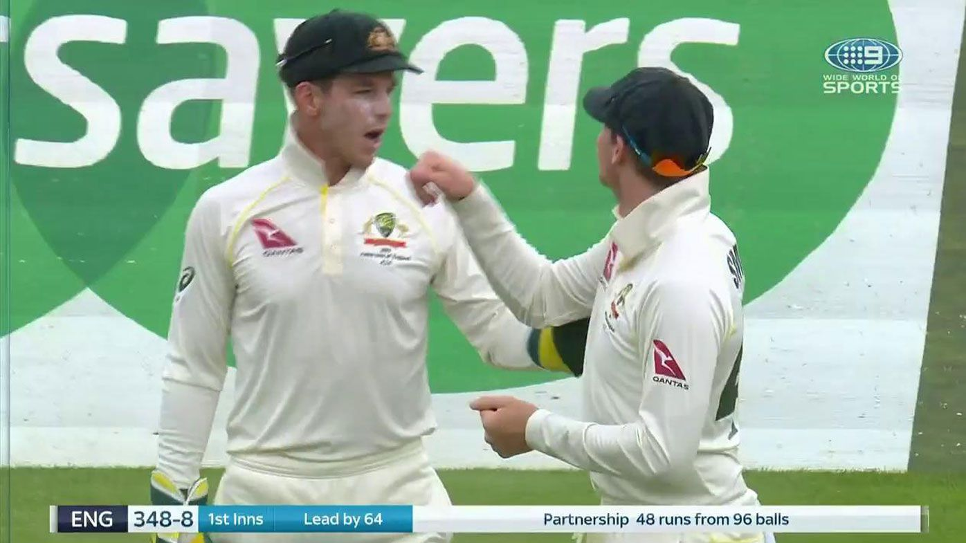 Steve Smith and Tim Paine exchange ideas