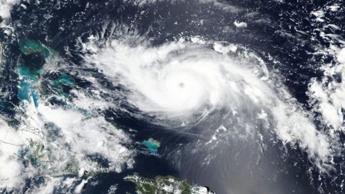 An image of Hurricane Dorian from space.