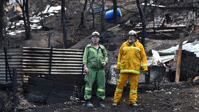 "<p>Wye River CFA brigade captain Ray Moriarty said he was thrilled with his crew's performance. </p><p>""I'm extremely happy, they made me so proud, my lieutenants did an absolutely fantastic job supporting me and we had eight men to do a 20-man task,"" he told the <a href=""http://www.heraldsun.com.au/news/great-ocean-road-fires-wye-river-firefighters-touted-as-unsung-heroes/news-story/d2f86dca787fe7101534415b27883e77"">Herald Sun</a>. </p><p>""We've only got a population of 80 so to get eight men out on Christmas Day ready to fight a fire is incredible."" (AAP)</p>"