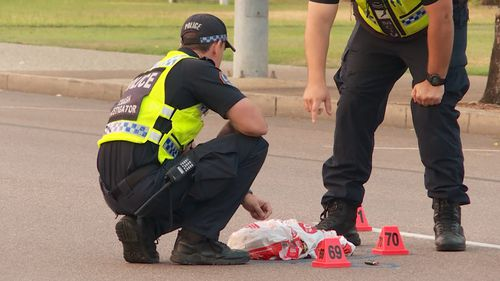 The incident comes in a horror 24 hours on Darwin's roads, with two killed and another injured in just one day. Picture: 9NEWS.